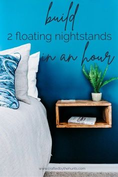 Build 2 DIY Floating Nightstands in Less Than an Hour - Diy Furniture Beds Ideen Simple Nightstand, Room, Home Improvement Projects, Diy Furniture Plans, Home Decor, Diy Furniture Projects, Furniture Inspiration, Home Diy, Floating Nightstand Diy