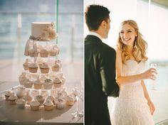 Cakes2Kreate all white cupcake tower wedding cake  Vanessa and Thomas' Melbourne Bayside Wedding, Polka Dot Bride