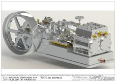 Muncaster Joy valve gear engine Rankine Cycle, Metal Lathe Projects, Cad Computer, Mechanical Engineering Design, Autodesk Inventor, Motor Engine, Steam Engine, Autocad, Gears