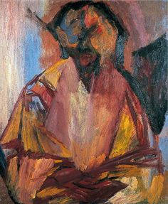 Last Self Portrait by David Bomberg -1956