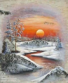 Feelings in Pictures. Welcome to a new page 'Feelings in Pictures ! My pictures talk about my feelings :sometimes sad , sometimes happy ! Scenery Pictures, Winter Pictures, Christmas Pictures, Art Pictures, Winter Landscape, Landscape Art, Landscape Paintings, Watercolor Paintings, Christmas Landscape