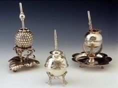 WSH loves the exquisite work of Argentinian silversmith Marcelo Toledo. Here the silver mates sent as the argentinean official gifts for William and Kate royal wedding. Mate Drink, Principe William Y Kate, Argentina Culture, Yerba Mate Tea, Kate Middleton, Colonial, Fancy, Silver, Gifts