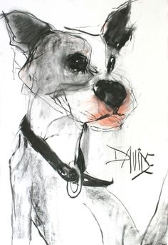 'Floyd' Original Mixed Media by Valerie Davide - Mounted £225 SOLD
