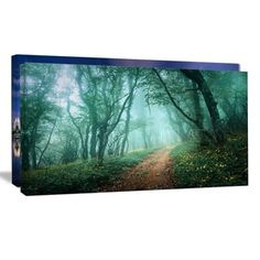 Shop for Light Green Mystical Fall Forest - Landscape Photography Wall Art and more for everyday discount prices at Overstock.com - Your Online Art Gallery Store!