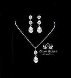 Wedding Jewelry - Bridal Jewelry Set, Bridesmaid Jewelry Set, Wedding Set. $67.00, via Etsy.