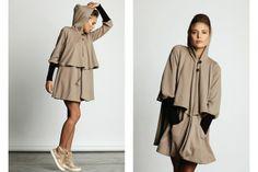 Long Hoodie by Lo Long Hoodie, Duster Coat, Raincoat, Hoodies, Winter, Pretty, Womens Fashion, Jackets, Stuff To Buy