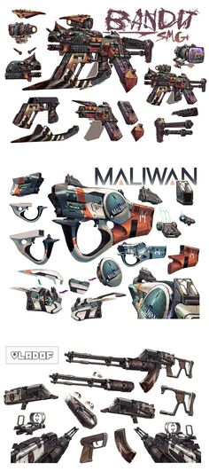Guns - Borderlands 2 Concept Art