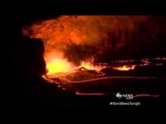 Hawaiian volcano eruption 4.30.15 - 22 second news clip