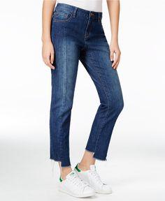 RACHEL Rachel Roy Midnight Blue Wash Straight-Leg Jeans, Only at Macy's - Jeans - Women - Macy's