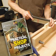 """Sign up to receive our Free monthly ShopNEWS woodworking newsletter and we'll send you a link to download our 45 page """"Practical Shop Projects"""" eBOOK"""