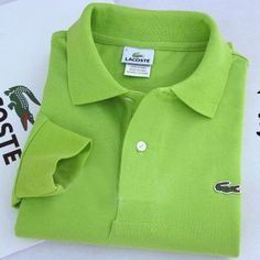 Lacoste Polo Long Sleeve Classic Shirt Apple Green    #CheapLacoste #CheapLacosteLongSleeve #Polos #LacostePolos #LacostePoloShirts #StylishLacosteShirts #LacosteForCheap