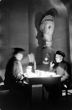 Loomis Dean, Louvre At Night (Art-Sculptures), 1958 - Hosted by Google