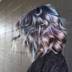 Metallic Blue and Purple - Metallic Hair Shades With Just the Right Amount of Edge For Fall - Photos