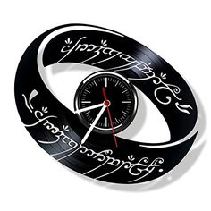 The Lord of the Rings vinyl wall clock- Modern room decor...