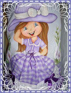 Freya Art's: Boneca com sai de tecido-pano de prato