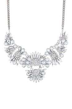 14th & Union Multi Stone Flower Frontal Necklace