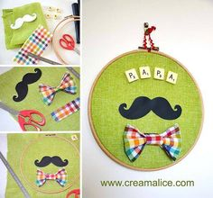 Find amazing DIY Father's Day Craft for Kids and diy father's, day gifts from daughter in our gallery and make the walking God in your life smile! Diy Father's Day Crafts, Father's Day Diy, Fathers Day Crafts, Crafts For Kids To Make, Arts And Crafts, Cd Diy, Happy Summer, Art Classroom, Moustache