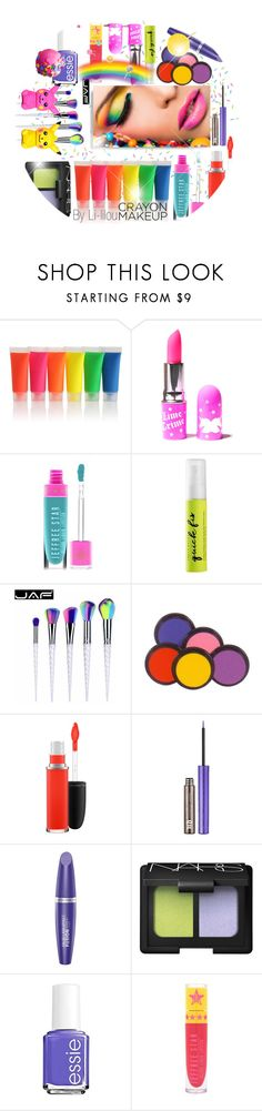 """~Crayon Makeup~"" by li-lilou ❤ liked on Polyvore featuring beauty, Lime Crime, Jeffree Star, Urban Decay, MAC Cosmetics, Max Factor, NARS Cosmetics, Essie and Ciel"
