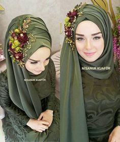 Hijab Fashion Selection of special trendy looks Look De İslami Erkek Modası 2020 Hijab Fashion 2016, Abaya Fashion, Look Fashion, Fashion Muslimah, Modest Fashion, Muslimah Wedding Dress, Hijab Wedding Dresses, Muslim Dress, Hijab Dress