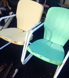Vintage Metal Chairs, Gliders, Motel, Love Seat, Things To Sell,  Stationary, Lawn, Gardens, Small Sofa