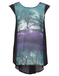 £10 We have fallen in love with this Graphic Print Sheer Top from George #fashion #tops