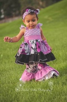 Baby Dahlia's Boutique Double Flutter Top, Dress and Maxi PDF Pattern