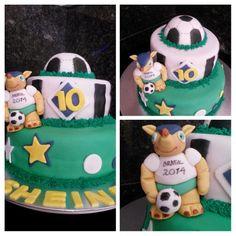 mundial de fútbol cake