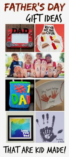 Father's Day gift ideas that kids can make themselves; these are such CUTE ideas! Grandparents Day Gifts, Fathers Day Cards, Creation Deco, Gifts For Kids, Fathers Day Gifts From Kids Homemade, Papi, Daddy Day, Baby Daddy, Mom And Dad