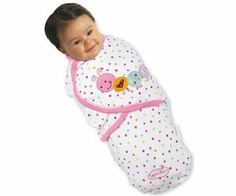 It's cute, and it works wonders for helping Nora fall asleep.  Deluxe Pure Love Cotton SwaddleMe Swaddling Blanket SMALL Pink Caterpillar: Amazon.co.uk: Baby