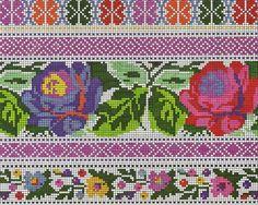Cross Stitch Borders, Cross Stitch Art, Cross Stitch Flowers, Cross Stitching, Cross Stitch Embroidery, Cross Stitch Patterns, Blackwork Patterns, Embroidery Patterns Free, Loom Patterns