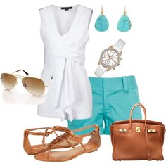 white and turquoise .. with longer shorts? @@@ I agree!