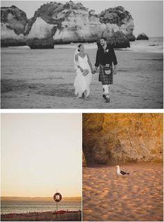 Portugal Algarve Beach Wedding in Blue