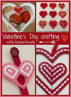Valentine's Day crafts with Hama beads
