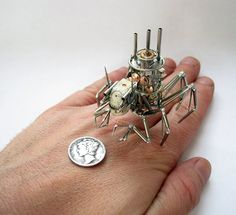 Though most watch designs hide all the moving pieces on the inside of the contraption,Justin Gershenson-Gatesaims to bring out the inner beauty of the small machines. In his series ofSteampunk insects created from recycled timepieces,Gershenson-Gates displays the intricate metal work as if they were the tiny body parts of various bugs. The detail of each […]