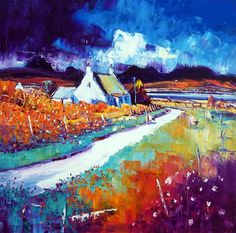 Scottish Gallery - landscapes and views oil on canvas paintings by Jean Feeney Abstract Format, William Stewart, Paintings I Love, Oil Paintings, Abstract Landscape, Landscape Paintings, Art Techniques, Beautiful Landscapes, Oil On Canvas