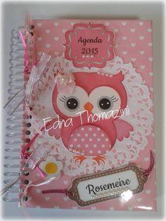 Agenda 2015 personalizada com cores, desenhos e nome. R$ 50,00
