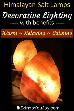 Himalayan salt lamps create a warm, relaxing, and comforting atmosphere. The lamps are perfect for any room and make great gifts - especially for hard-to-buy-for people! Learn about the benefits of Himalayan salt lamps, along with how they work. #Himalayan #Lighting
