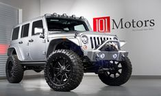 Welcome to 101 Motors in Tempe, where we have the best custom Jeeps around. We sell customized Jeep Wrangler, Wrangler Unlimited, Rubicon and more along with other luxury vehicles and exotic cars Jeep Wrangler Rubicon Unlimited, Jeep Wrangler Jk, Jeep Wrangler Amarillo, Jeep Wrangler Lights, Yellow Jeep Wrangler, Jeep Jk, Jeep Truck, Custom Jeep, Cool Jeeps
