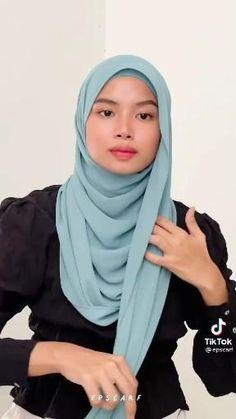 Modern Hijab Fashion, Muslim Women Fashion, Street Hijab Fashion, Hijab Fashion Inspiration, Simple Hijab Tutorial, Hijab Style Tutorial, Pashmina Hijab Tutorial, Scarf Tutorial, Diy Clothes Life Hacks