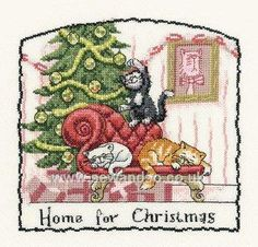 Buy Home For Christmas Cross Stitch Kit Online at www.sewandso.co.uk