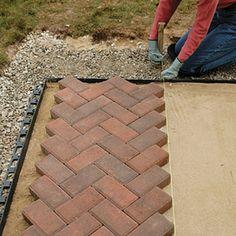 patterns for paver bricks   Brick and Paver Patterns - Diagonal Herringbone   Home Depot Canada