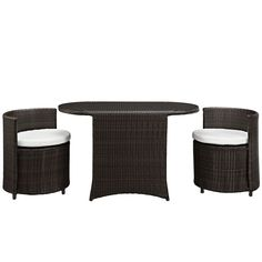 Kyoto 3 Piece Outdoor Patio Dining Set