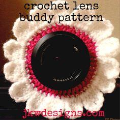 Flower lens buddy - free crochet pattern by jkwdesigns