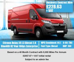Citroen Relay 35 L3 Diesel 2.0 BlueHDi H2 Van 160ps Enterprise
