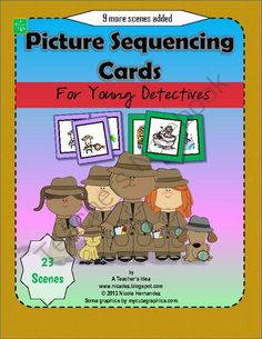 Picture Sequencing Cards for Young Detectives from A_Teachers_Idea on TeachersNotebook.com (13 pages)