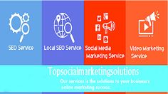 Top Social Marketing Solutions ' Facebook Cover Photo #seoservice #localseoservice #socialmediamarketingservice #videomarketingservice #link-buidingservice #seopackage