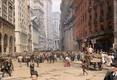 New York City , en los tempranos años 1900 , coloreada digitalmente / / . . . New York in the early 1900s, colorized.