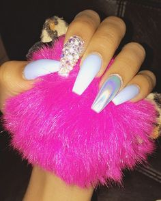 Cute Nail Art Ideas to Try - Nailschick Hair And Nails, My Nails, Crome Nails, Claw Nails, Finger, Manicure E Pedicure, Nail Games, Stiletto Nails, Glitter Nails