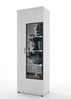 Vitrine Acorano mit 2 Türen Weiß Hochglanz 4588. Buy now at https://www.moebel-wohnbar.de/vitrine-acorano-mit-2-tueren-weiss-hochglanz-4588.html