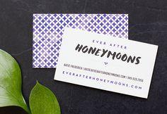 Ever After Honeymoons branding | MaeMae Paperie #smallbusinessbranding #webdesign #custompattern #businesscards
